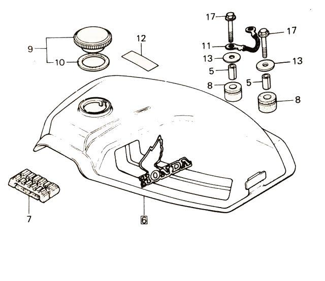 Exploded view tekeningen | Honda MT50