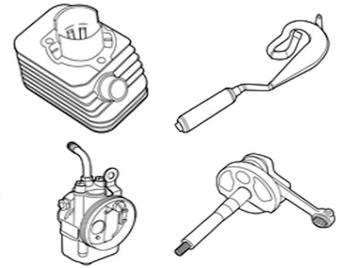 Gilera Citta – Carburateurs, cilinders, koppelingsdelen, krukassen & meer