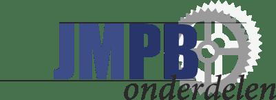 Sticker Zundapp Zwart/Wit 128MM