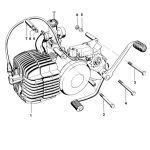 Motorblok Kreidler 5V Direct