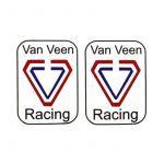 Stickerset Van Veen Racing Rechthoek