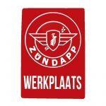 Sticker Zundapp Werkplaats Rood A4