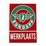 Sticker Zundapp Werkplaats Rood/Groen A4