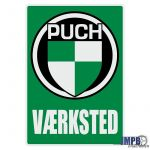 Vaerksted Sticker Puch Deens