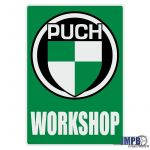 Workshop Sticker Puch Engels