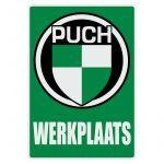 Werkplaatssticker Puch Nederlands