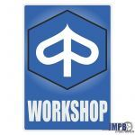 Workshop Sticker Piaggio Engels
