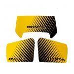 Stickerset Honda MT50 Geel / Zwart 3-Delig
