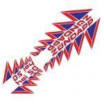 Stickerset 4-Delig Zundapp HAI50 Rood/Blauw