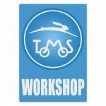 Workshop Sticker Tomos Blauw Engels
