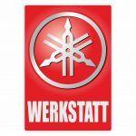 Werkstatt Sticker Yamaha Duits