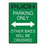 "Sticker ""Puch Parking Only"" Groen"