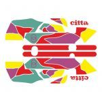 Stickerset Gilera Citta Funny Rood