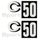 Stickerset Zundapp C50 Sport Zwart Vlak