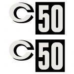 Stickerset Zundapp C50 Zwart Vlak