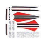 Stickerset Zundapp GTS 50 Rood/Zwart