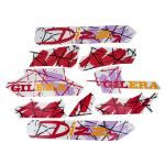 Stickerset Gilera Citta Dizzy Donkerrood/Paars