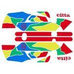 Stickerset Gilera Citta Funny Multi