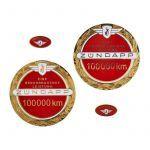Embleemset Zundapp 100.000 KM Rood