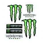 Stickervel Monster 6 delig Groot