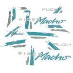 Stickerset Puch Rider Macho '91 Groen