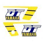 Stickerset Yamaha DT50MX Geel/Blauw