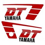 Stickerset Yamaha DT50MX Rood/Wit