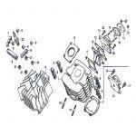 Cilinder / Spruitstuk Honda MT50