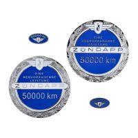 Embleemset Zundapp 50.000 KM Blauw