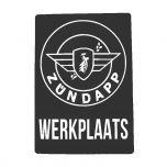 Sticker Zundapp Werkplaats Zwart A4