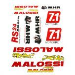 Stickerset Malossi Rood 10-Delig