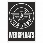 Werkplaatssticker Zundapp Zwart Nederlands