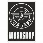 Workshop Sticker Zundapp Zwart Engels