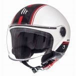 Helm Jet Street Entire MT Wit/Rood