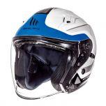 Helm Jet Avenue Crossroad MT Wit/Blauw