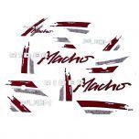 Stickerset Puch Rider Macho '91 Rood