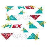Stickerset Puch P1 EX Groen/Geel/Rood