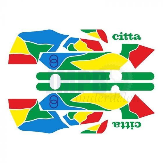 Stickerset Gilera Citta Funny Groen