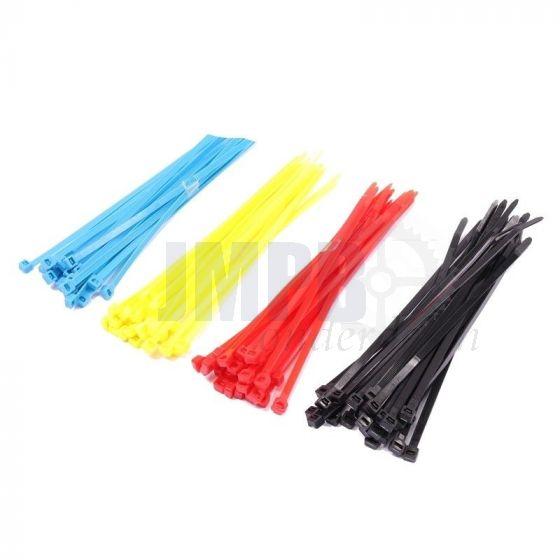 Assortimentset Kabelbinders Kleur 20CM - 100 Stuks