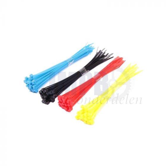 Assortimentset Kabelbinders Kleur 15CM - 100 Stuks