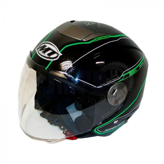 Helm Jet City Eleven Dynamic Zwart/Groen