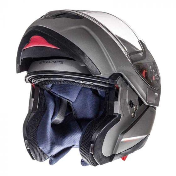 Helm Systeem MT Atom Mat Grijs