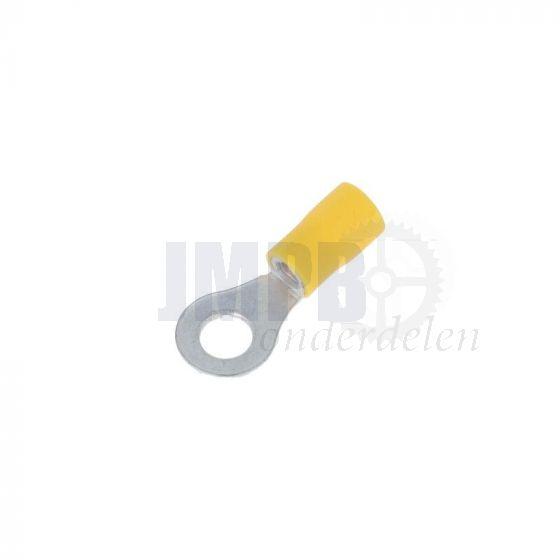 Kabeloogstekker Geisoleerd Geel M6 A-Kwaliteit