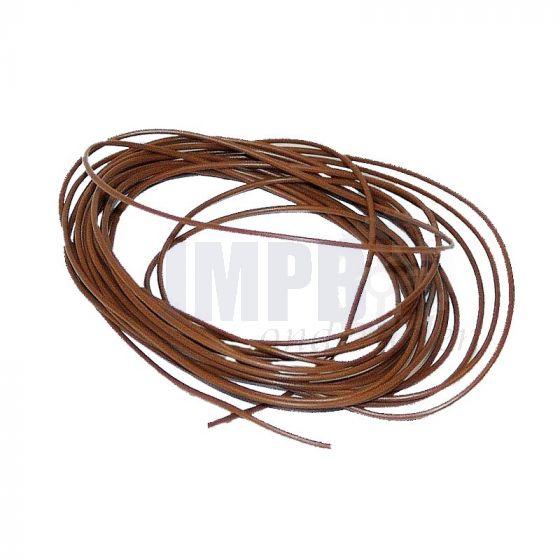 Electrisch Draad 3 Mtr Verp. - 1.0MM² Bruin