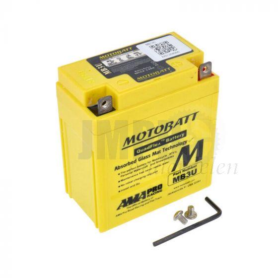 Accu 12 Volt MotoBatt MB3U 3.8 Ah