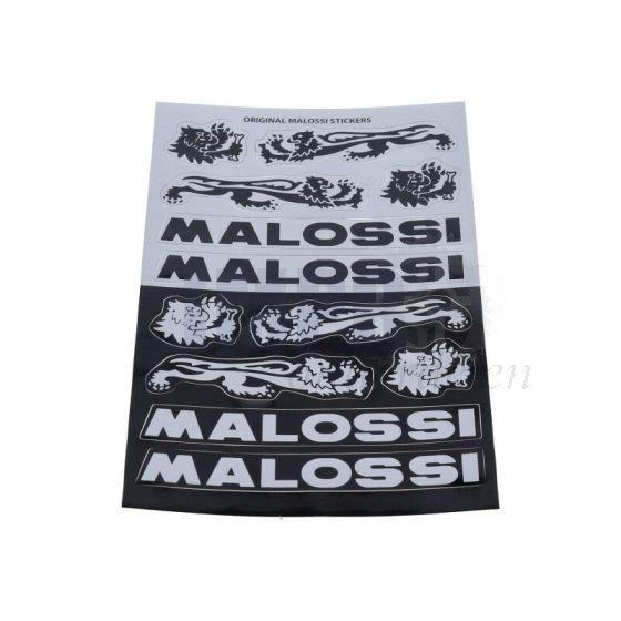 Stickerset Malossi Zwart/Grijs