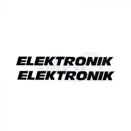 Sticker Kreidler Elektronik 2 Stuks Zwart/Wit 142X12MM