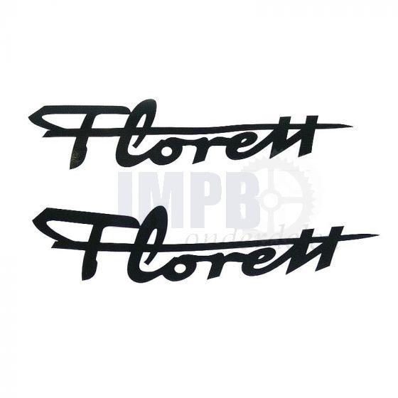 Florett Stickers Zwart 120MM 2 Stuks