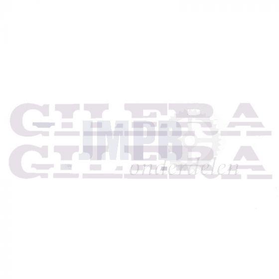 Stickerset Gilera Turbo Snijtekst Wit