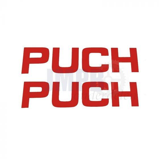 Sticker Puch 120X35MM Rood per 2 stuks